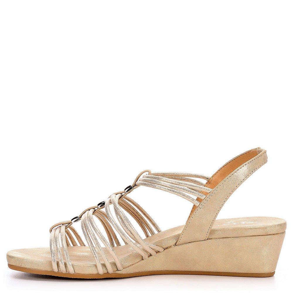 Pesaro Womens Mildred Dress Sandal Shoes B06Y1T67HQ 8 B(M) US Gold
