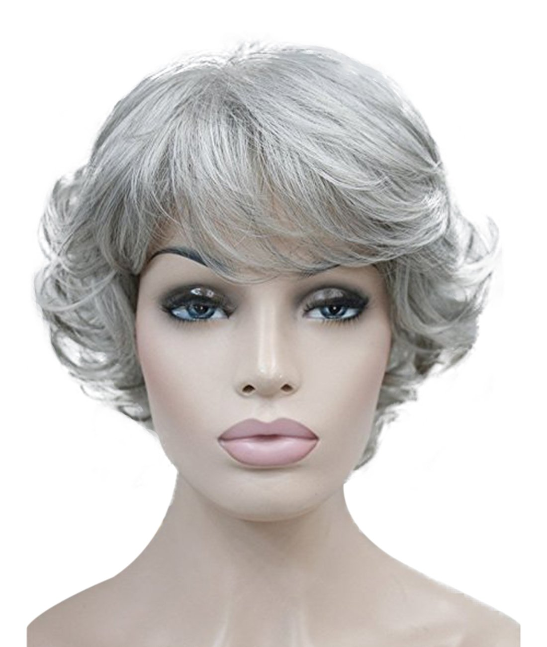 Kalyss Women's wigs Short curly Syntheitc