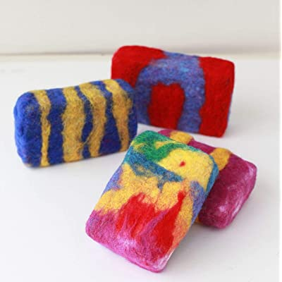 Harrisville Designs Friendly Loom F559 Felted Soap Kit Color Games, Wool Felting for Kids Ages 5 and up: Toys & Games