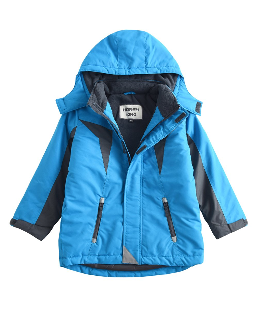 M2C Boys Thicken Warm Cotton Padded Ski Jackets with Hood 6T Blue by M2C