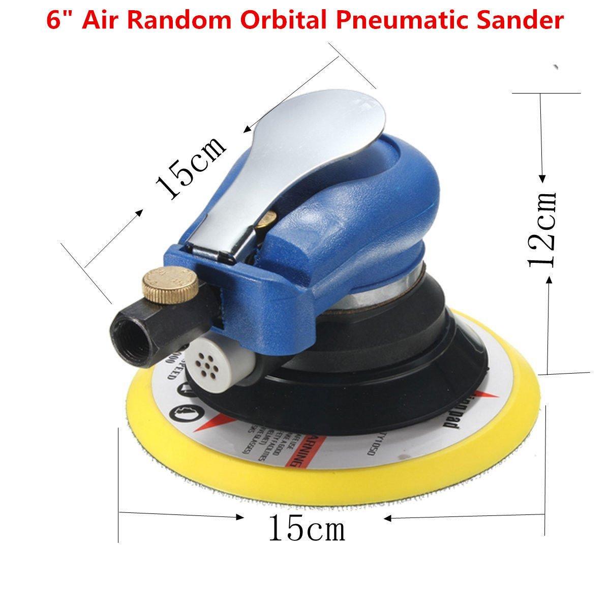 15, 2cm Air ponceuse orbitale pneumatique Disc polisseuse à main électrique Outil de meulage ponçage kit pour auto voiture Corps Orbit DA ponçage Nirananda