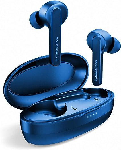 Auriculares Bluetooth 5.0 con Micrófonos Nuevo Versión Truecapsule, SoundPEATS Impermeable Auriculares Inalámbricos Bluetooth In-Ear con Caja de Carga Portátil para iPhone y Android: Amazon.es: Electrónica