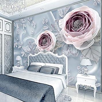 Benutzerdefinierte 3D Stereoskopische Fototapete Schlafzimmer Seide ...