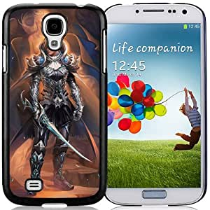 Fashionable Designed Cover Case For Samsung Galaxy S4 I9500 i337 M919 i545 r970 l720 With Silver Knight Fantasy Mobile Wallpaper Phone Case