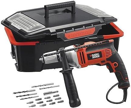 Black+Decker M273766 - Taladro percutor kr705ast 750w + caja herramientas: Amazon.es: Bricolaje y herramientas