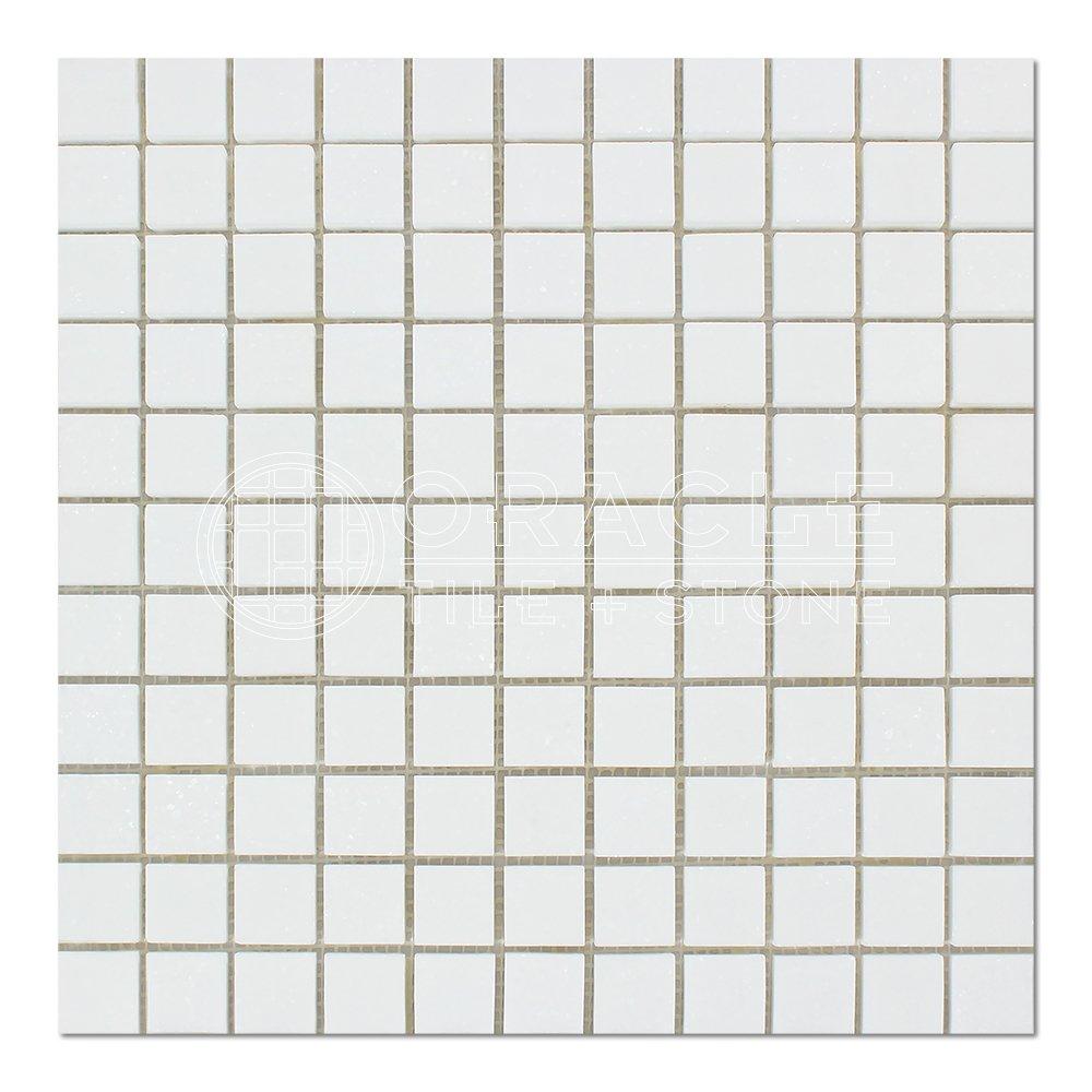 Thassos White Greek Marble 1 X 1 Mosaic Tile, Polished