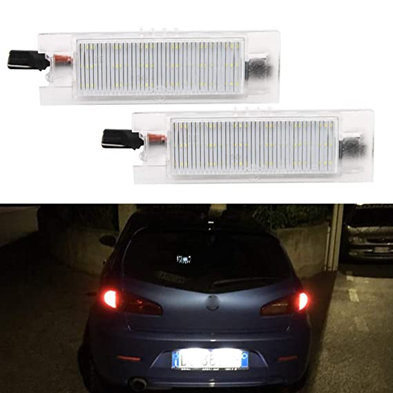 Lámpara de matrícula LED para Zafira Astra Corsa Insignia Corsa Meriva Tigra Vectra Astra: Amazon.es: Coche y moto