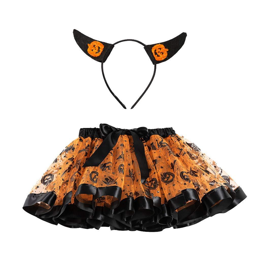 Mealeaf ❤️ Disfraz de tutú para niñas para Fiesta de Halloween ...
