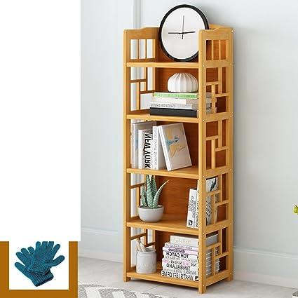 JXBOOS BookshelfChildren Racks Simple Bookcases Desktop Bookshelves Landing Student Bookrack Bamboo Bookshelf Space