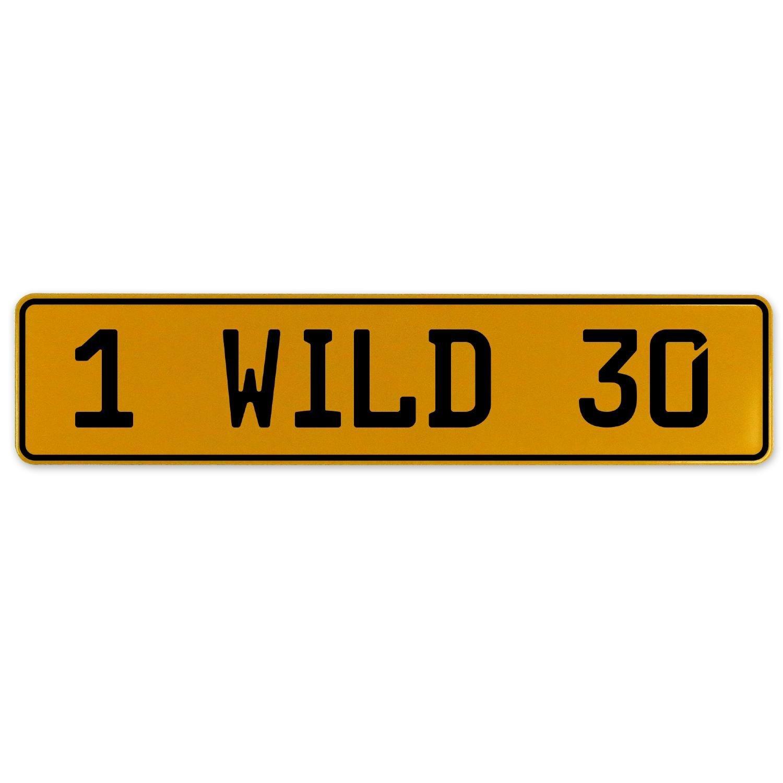 Vintage Parts 560964 1 Wild 30 Yellow Stamped Aluminum European Plate