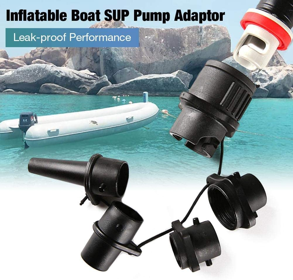 Inflatable Boat SUP Pump Adaptor Leak-Proof Air Pump Air Valve Adapter Spoke Plate Attachment for Kayak Inflatable Beds