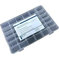 YOi MARZ 36 Grid Multipurpose Transparent Organizer Plastic Box with Removal Dividers