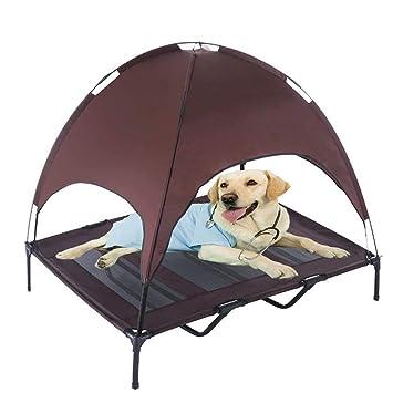 Cama elevada para mascotas con dosel extraíble para perro o ...