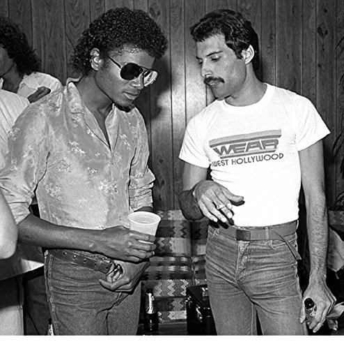 Historical Photo Collection 8 x 10 Photo Freddie Mercury And Micheal Jackson On High Qquality Fiji Film Paper