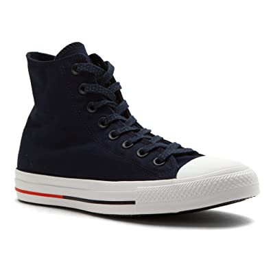 0ce4487286503a Converse Men s Chuck Taylor All Star Shield Canvas HI Obsidian White Signal  Red 13