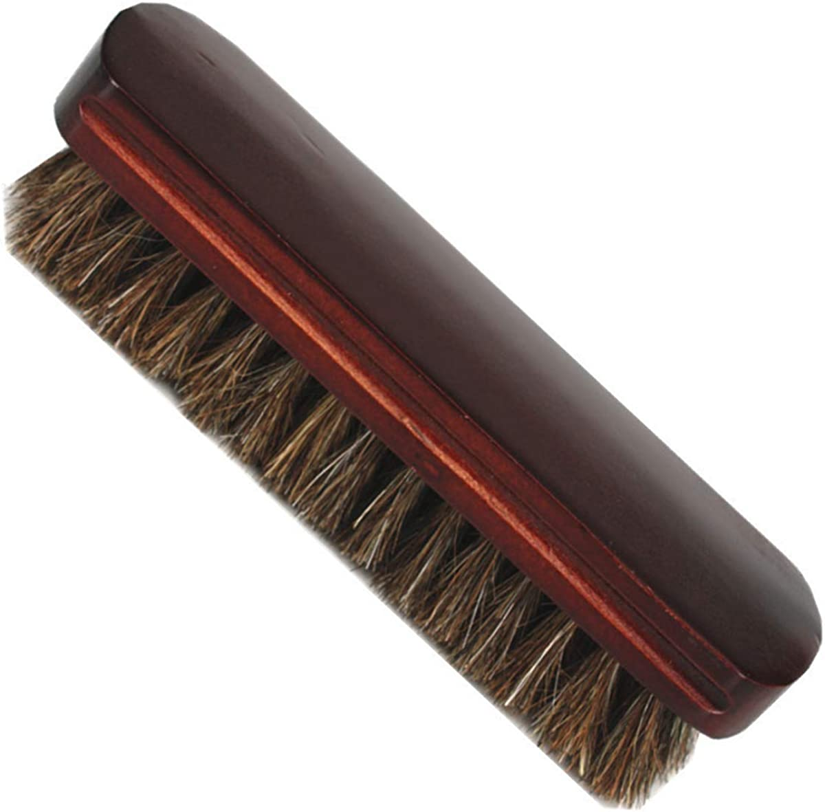 Car Seats Horsehair Brushes Wooden Soft Shoe Brush for Boots Sofas Interiors Shoes Furniture