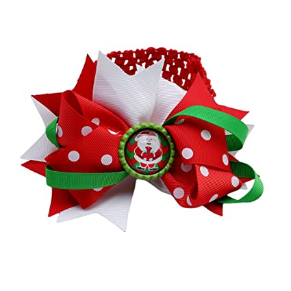 Christmas Hair Bows For Toddlers.Amazon Com Unke Baby Girl Christmas Hair Bows Clips Hair