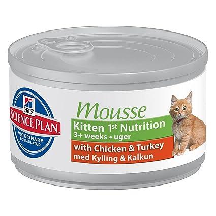 Hills SP pienso gatitos · Paté Kitten con pollo (lata)