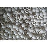 Lot de 50 perles Couleur Blanc pour création bracelet Rainbow Loom Bands