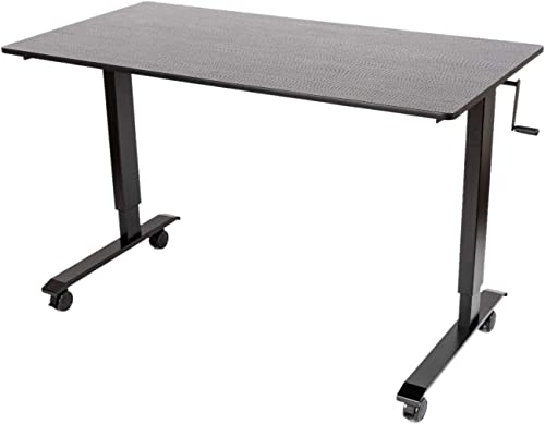 Luxor Furniture Crank Adjustable Stand Up Desk – 29.5 DX59 WX45.25 H,Black
