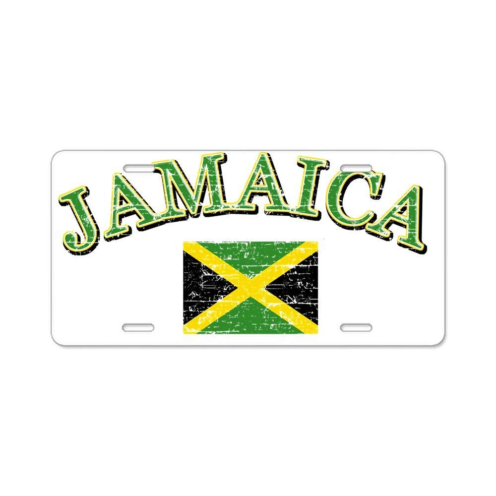PC CafePress jamaica Aluminum License Plate Standard Multi-color