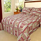 Lavish Home Melissa Quilt 3 Piece Set - Full-Queen