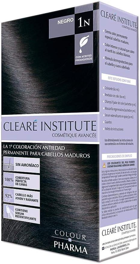 Colour Pharma | Tinte Sin PPD ni Amoniaco | Coloración Antiedad | 100% Cobertura de Canas Rebeldes, Con Serum Redensificante | 1N. Negro | 180ml