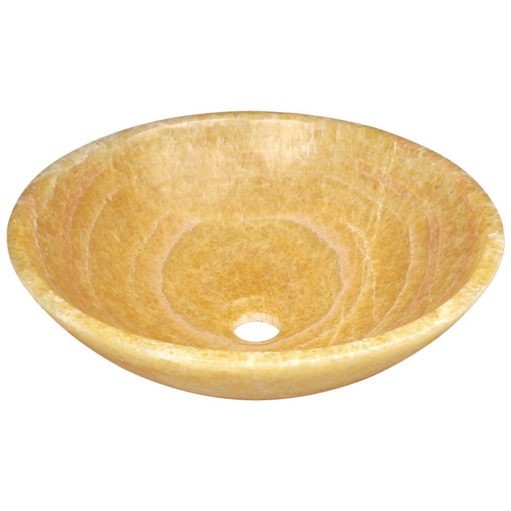 853 Honey Onyx Vessel Sink