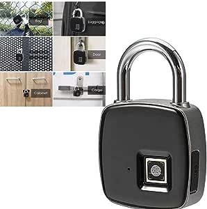 DDPP Candado de Huella Digital-Smart IP65 Impermeable Cerradura biométrica Gimnasio, Puerta, Mochila, Equipaje, Maleta, Bicicleta, Oficina, Carga USB: Amazon.es: Deportes y aire libre