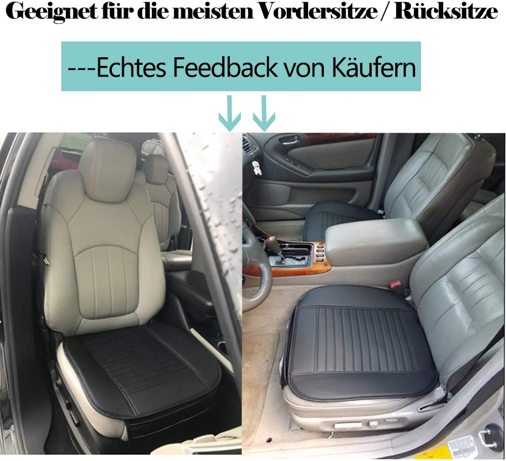 Big Ant Sitzauflagen Auto Sitzbezüge Auto Sitzkissen Auto Vordersitz Sitzauflagen Kissen Aus Hochwertiges Pu Leder X 2 Stück Schwarz Auto