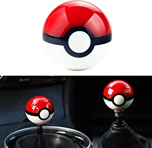 DEWHEL 55MM Pokeball Pikachu Poke Ball Manual Gear Shift Shifter knob JDM 4 5 6 Speed Universal Round Fit for Honda Acura Mazda Mitsubishi Nissan Infiniti Lexus Toyota Scion BRZ Ford Jeep