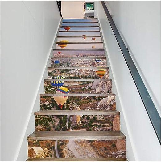 SERFGTFH Pegatinas De Escalera3D Hojas De Palmeras Tropicales De Bricolaje Salón Autoadhesivo Decoración Mural Adhesivo De Arte En La Decoración del Hogar: Amazon.es: Hogar