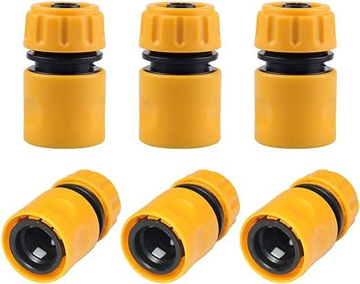 Sunflower-Boom 6 Conectores rápidos para Manguera de jardín, Conector de Manguera de 1/2 Pulgada: Amazon.es: Jardín