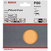 Bosch accessoires 2 608 605 440 slijpschijven 10 stuks 125 mm, 80