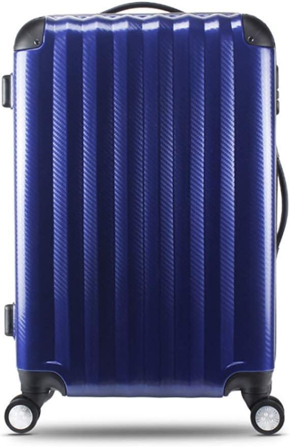 Runtongshanghang Multi-Color Scratch-Resistant Waterproof Password Box Trend Luggage Leisure Suitcase Universal Wheel Trolley Case 26 Inch Color : Black