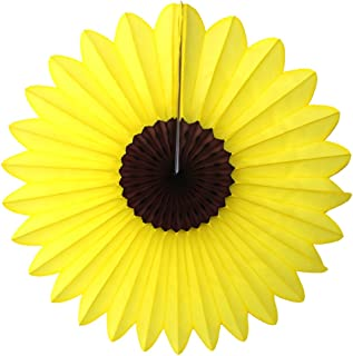product image for Devra Party 3-Pack 18 Inch Large Tissue Paper Sunflower Fan