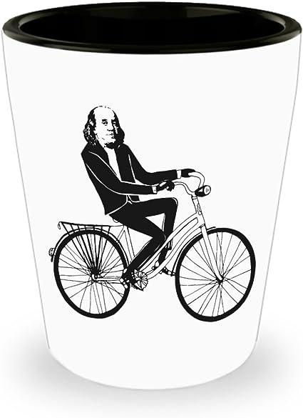 Ben Franklin - Vaso de chupito para bicicleta, diseño de Benjamin ...