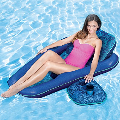 Aqua Raft - Inflatable sofa Recliner Lounge Swimming Pool Float for Kids and Adults