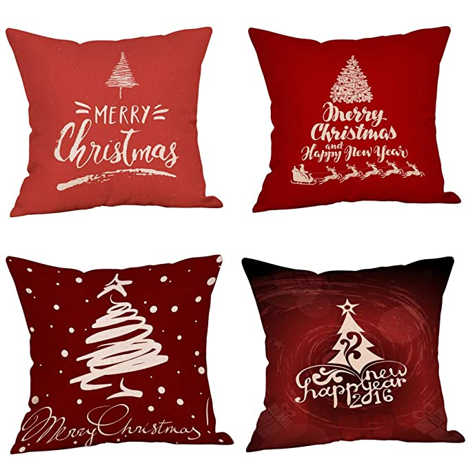 Amazon.com: Unionm 86# Pillow Covers Christmas Decor Throw ...