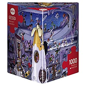 Heye Puzzle In Scatola Triangolare Oesterle Rocket Launch 1000 Pezzi Vd 29790