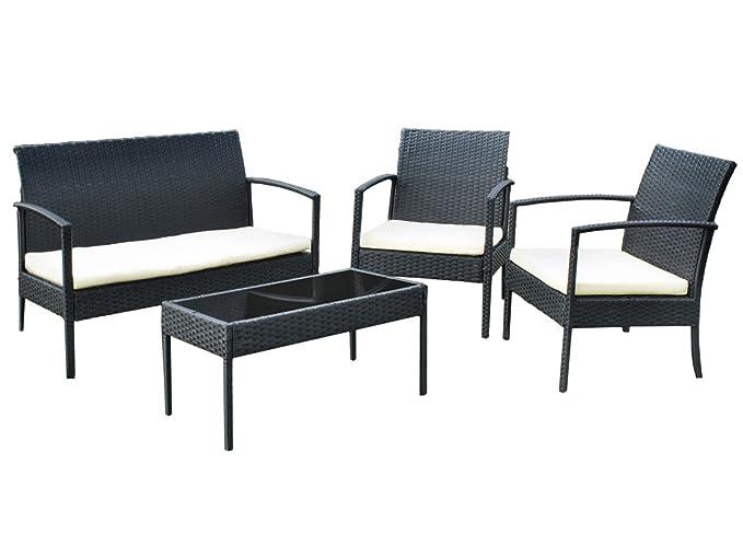 Amazon.de: Gartenmöbel AUSVERKAUF Gartenset Poly Rattan Lounge ...