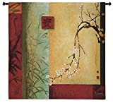 Fine Art Tapestries Spring Chorus Small Wall Tapestry 3976-WH 44 inches wide by 44 inches long, 100% cotton