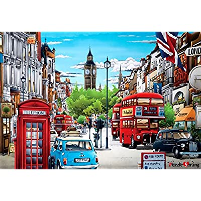 [Puzzle Life] London2 | 500 Piece - Large Format Jigsaw Puzzle. Can be Enjoyed Puzzle Game by All Generation. Beautiful Decoration, Pleasant Play. Free Bonus Poster: Toys & Games