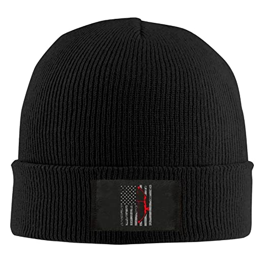 first rate a6ca6 5ecc1 Image Unavailable. Image not available for. Color  P.Scott Archery Bow  Hunting US Flag Unisex Knit Beanie Hat ...