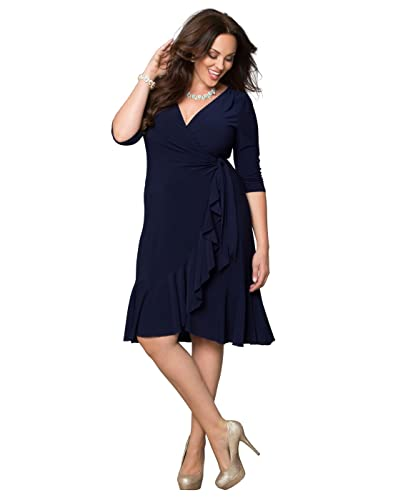 Kiyonna Women's Plus Size Whimsy Wrap Dress