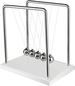 iHarPro Acrylic Newtons Cradle, Metal Balance Balls, Desk Toys, Science Toys, Desk Decorations & Accessories, Metal Pendulum Balls, for Kid and Adult Relieving Stress Boredom ADHD Autism
