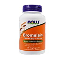 NOW Supplements, Bromelain (Natural Proteolytic Enzyme) 2,400 GDU/g - 500 mg, Natural...