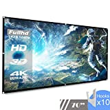 Upgrade Thickened Projection Projector Screen 70 inch HD 16:9,Koogoo Portable Foldable Indoor Outdoor Movie Screen, Suitable for HDTV/Sports/Movies/Presentations (70 inch)
