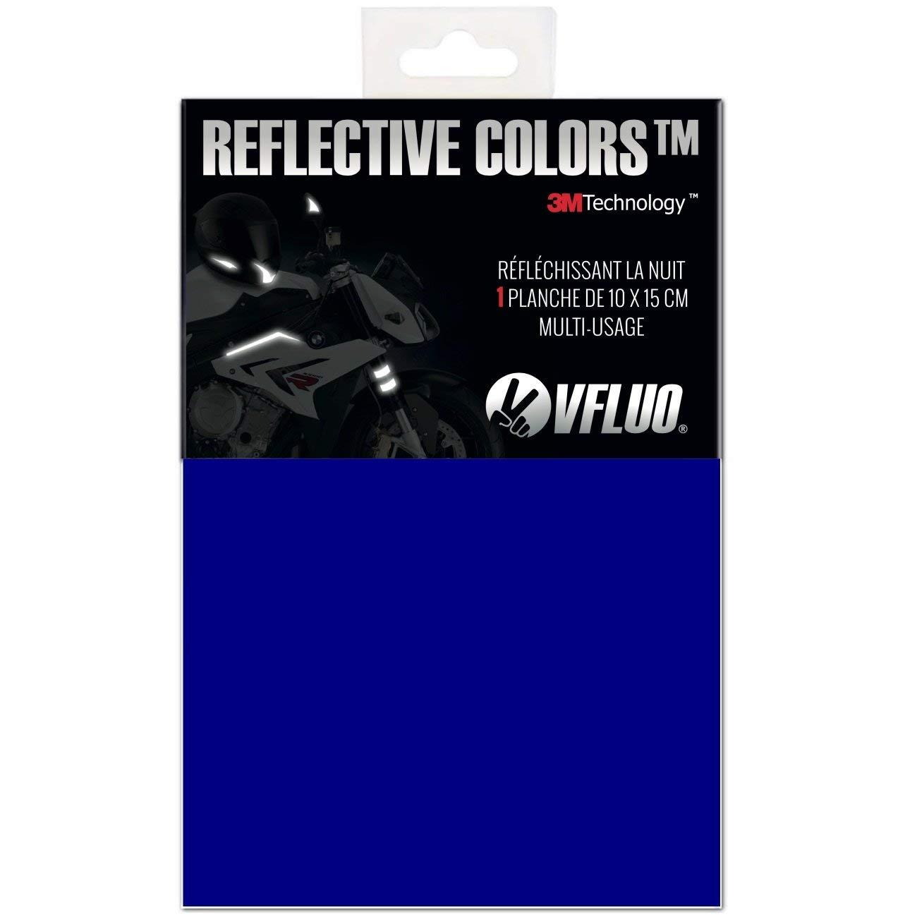 Amarillo VFLUO 3M Reflective Colors/™ Kit de Pegatina Retro Reflectante a Cortar para Casco de Moto//Motocicleta//Bicicleta 3M Technology/™ Hoja de 10 x 15 cm