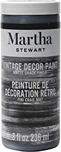 Martha Stewart Crafts Martha Stewart Vintage Decor Matte Chalk Beetle Black, 8 oz Paint, 8 Fl Oz